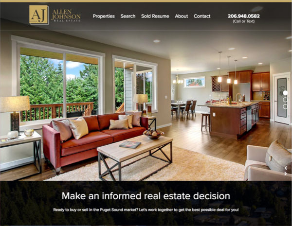 AJ Real Estate Website Design by Efinitytech Seattle
