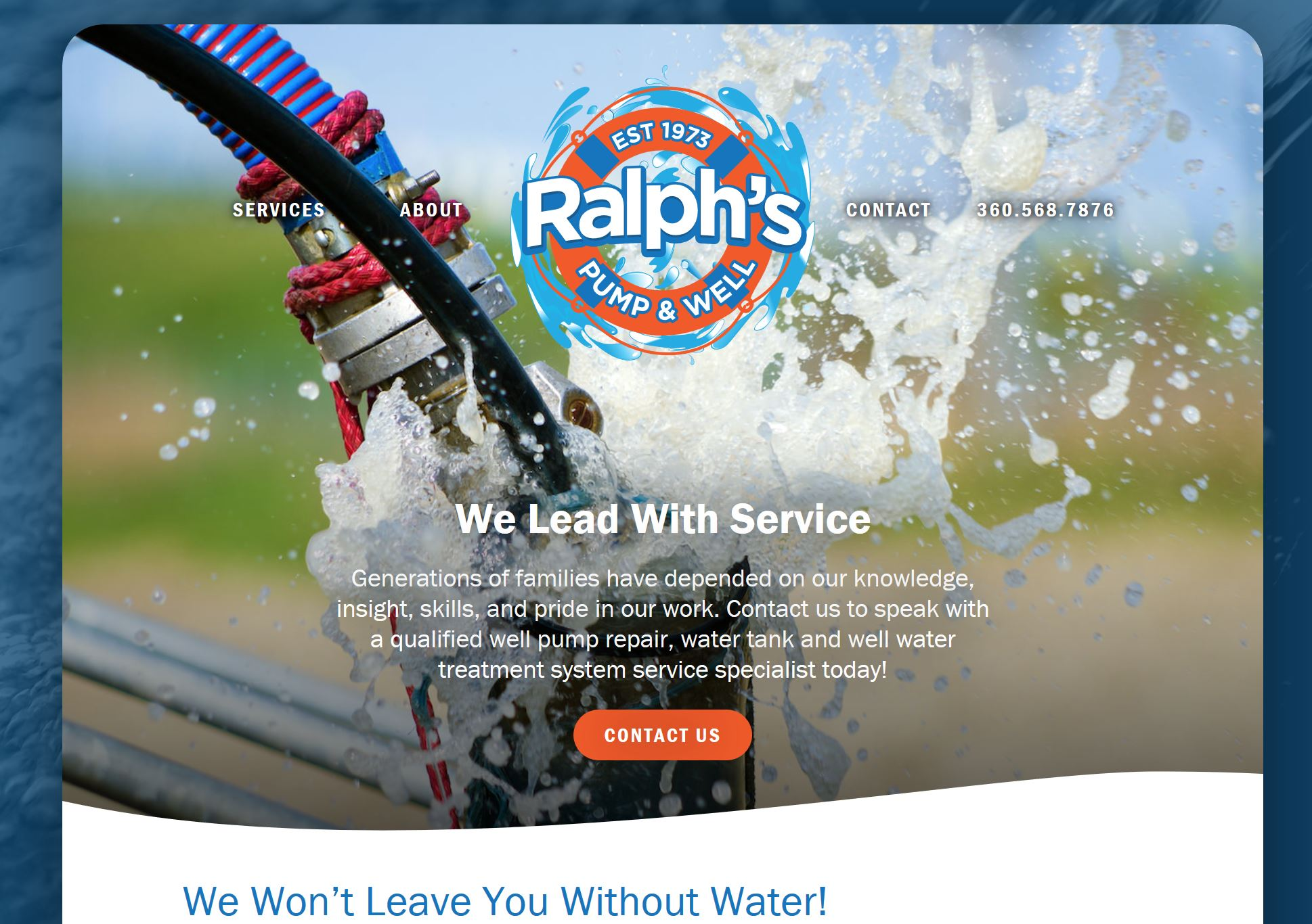 Ralph's Pump Website Design by Efinitytech Seattle