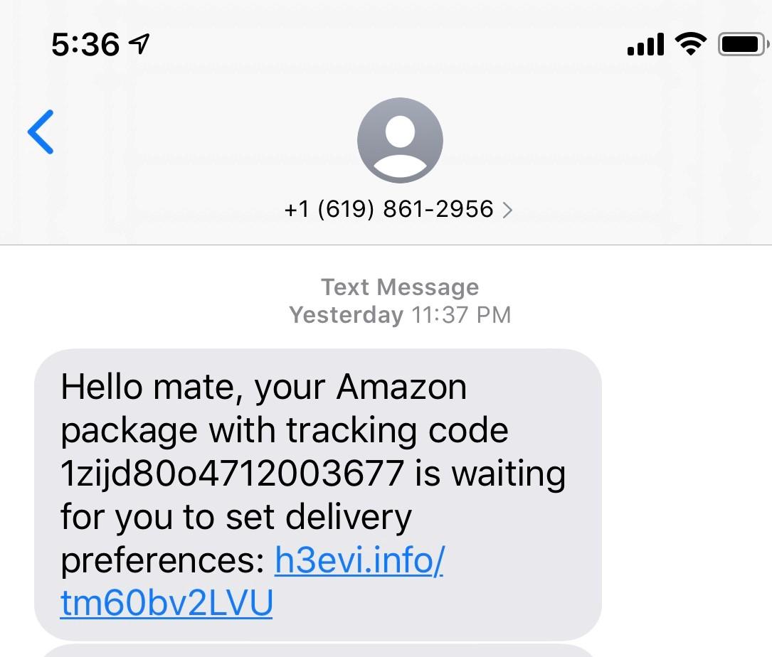 Text Phishing