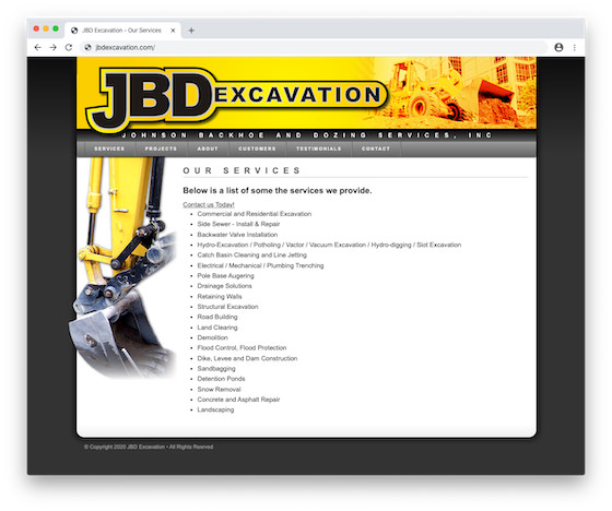 OLD JBDExcavation
