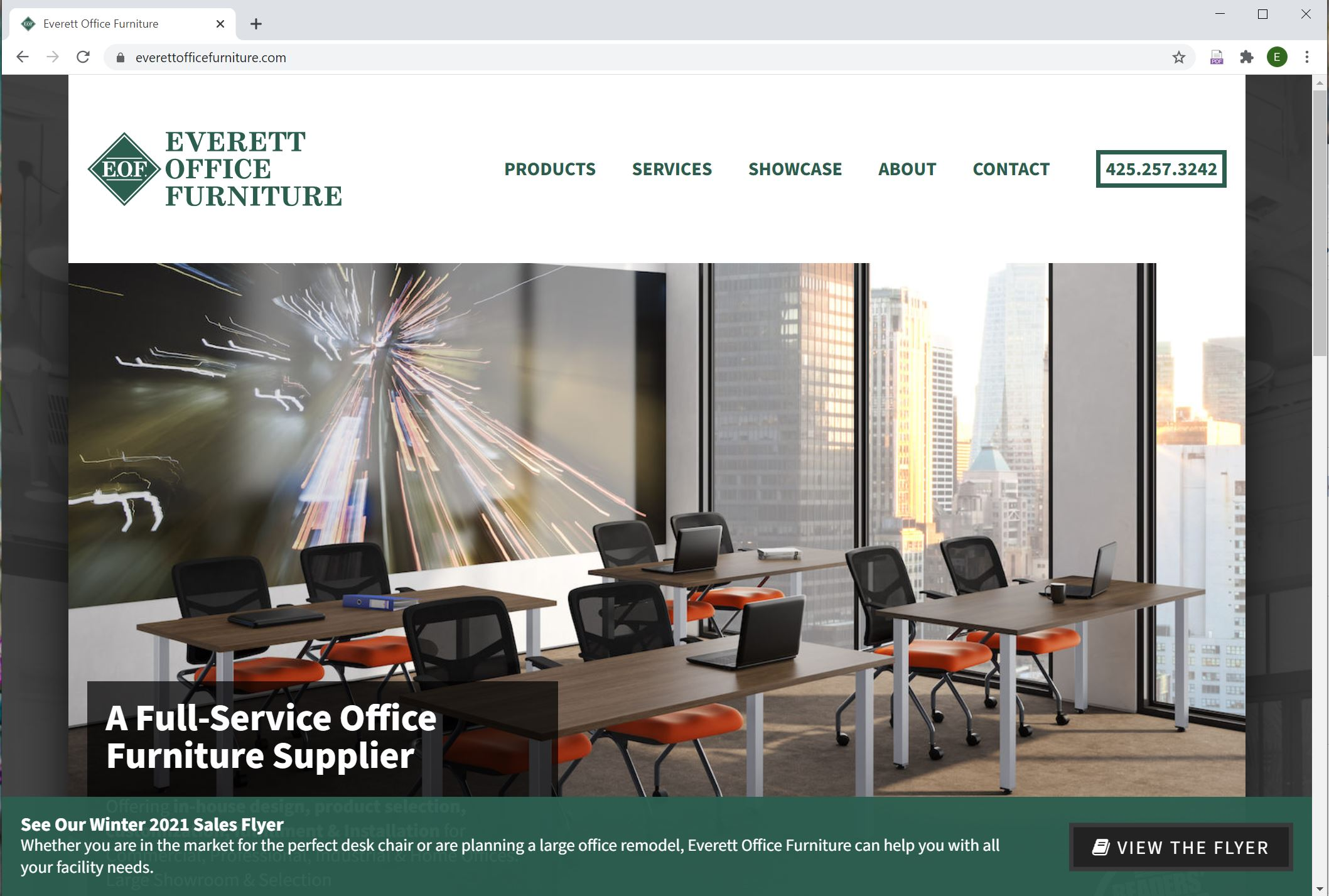 Everett Office Furniture Website Design by Efinitytech Seattle