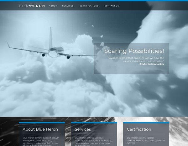 BlueHeron.Tech Website Design by Efinitytech Seattle