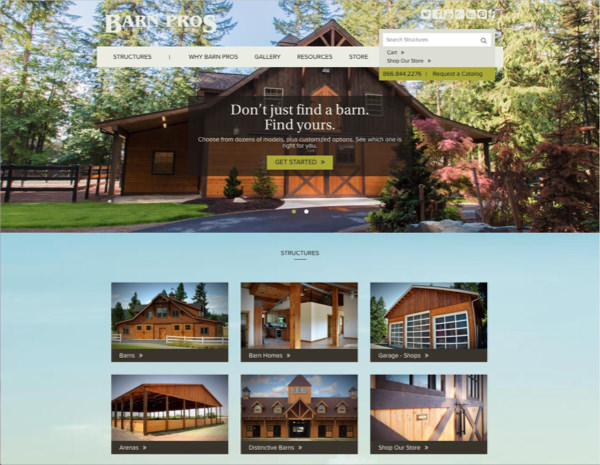Barn Pros Website Design by Efinitytech Seattle