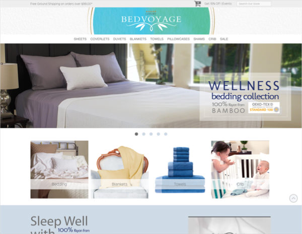 Bed Voyage Website Design by Efinitytech Seattle