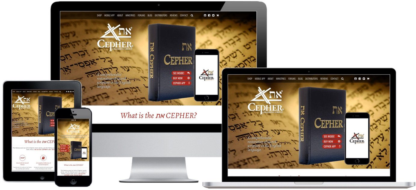 Cepher Publishing Website Design by Efinitytech Seattle