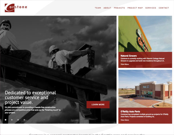 Corstone LLC Website Design by Efinitytech Seattle