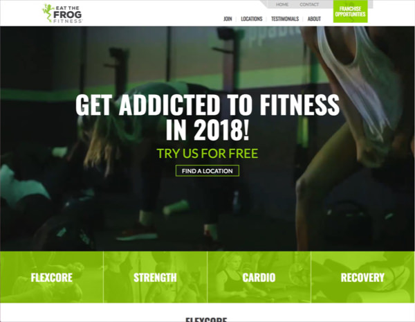 ETF Fitness Website Design by Efinitytech Seattle
