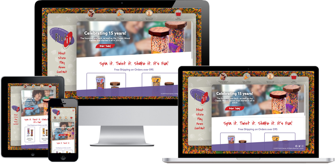 Find it Games Website Design by Efinitytech Seattle