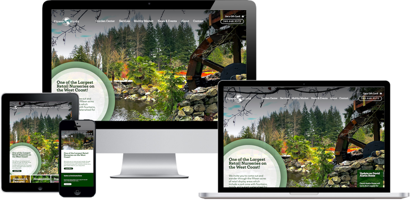 Flower World USA Website Design by Efinitytech Seattle