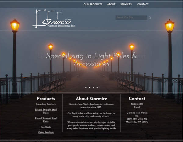 Garmire Ironworks Website Design by Efinitytech Seattle