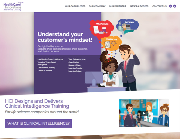 HCI Learning Website Design by Efinitytech Seattle