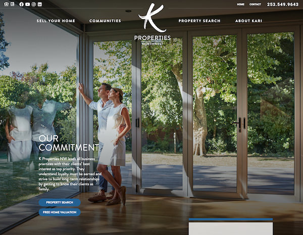 K Properties Northwest Website Design by Efinitytech Seattle