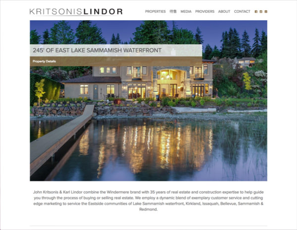 Kritsonis & Lindor Website Design by Efinitytech Seattle