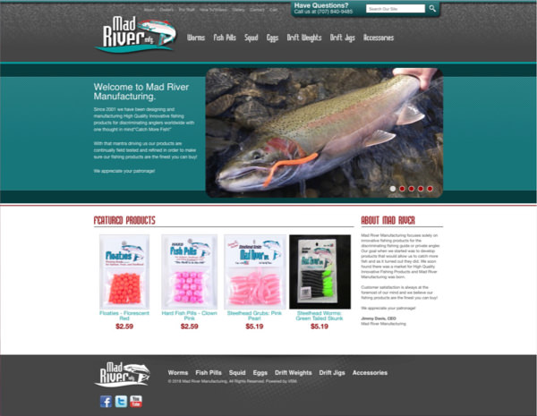 Mad River Manufacturing Website Design by Efinitytech Seattle