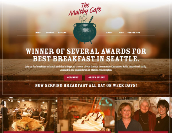 Maltby Cafe Website Design by Efinitytech Seattle