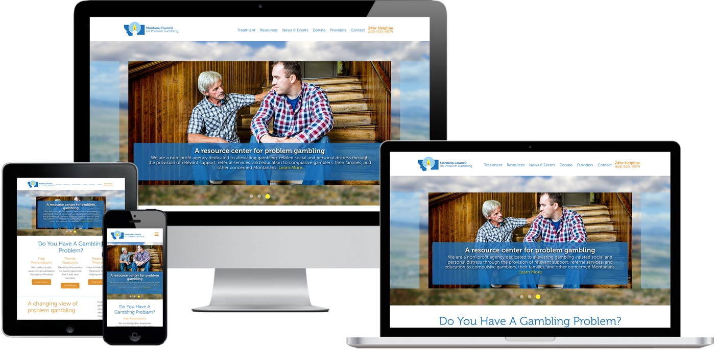 Montana Problem Gambling Website Design by Efinitytech Seattle