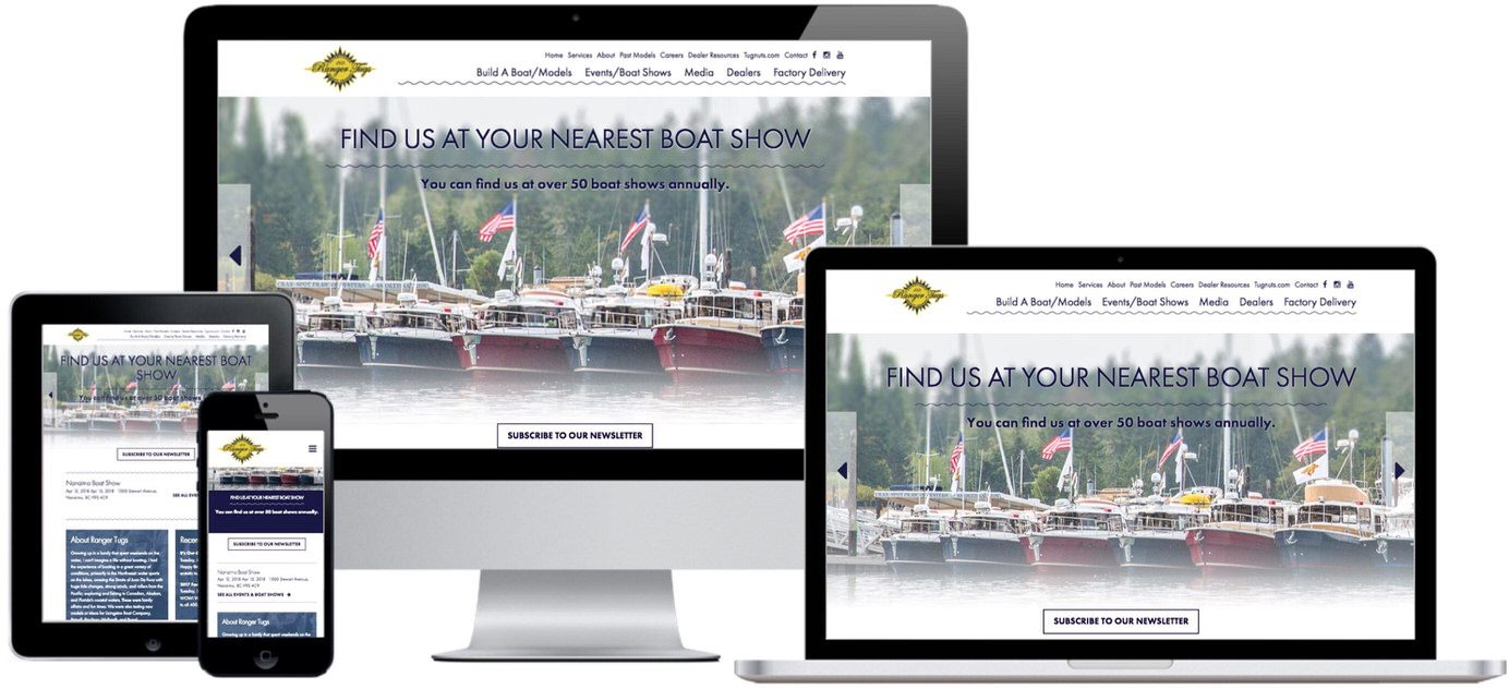 Ranger Tugs Website Design by Efinitytech Seattle