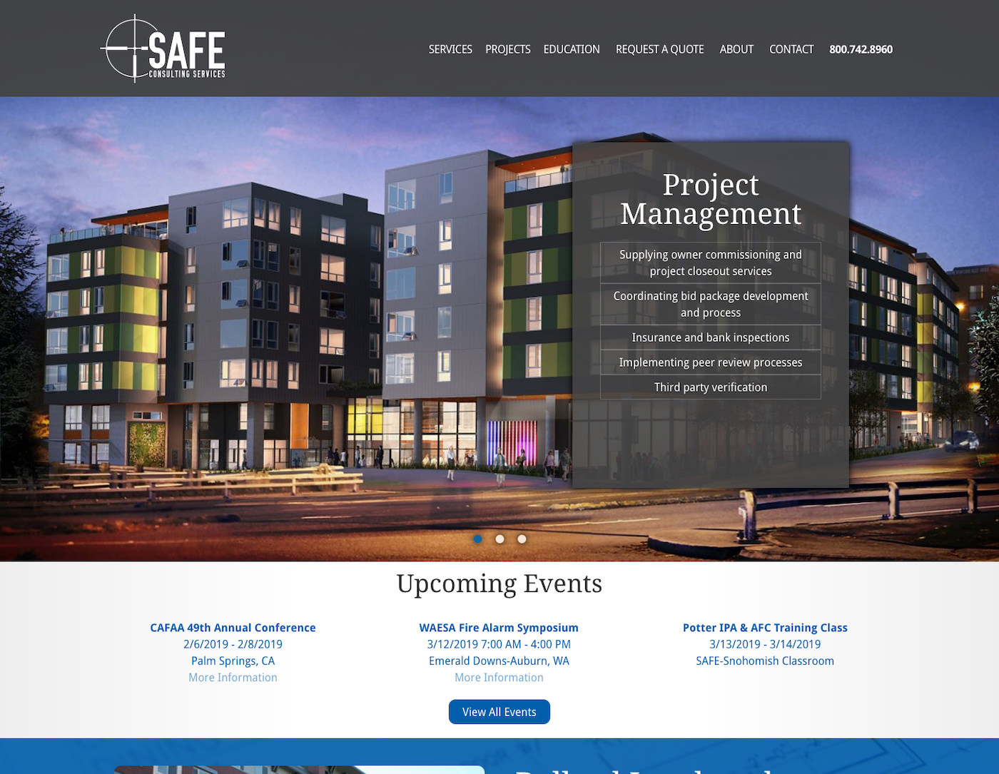 SafeConsulting.biz Website Design by Efinitytech Seattle