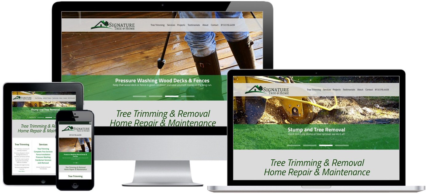 Signature Tree & Home Website Design by Efinitytech Seattle
