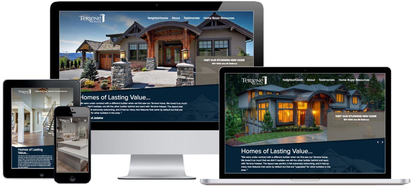 Terrene Homes Website Design by Efinitytech Seattle