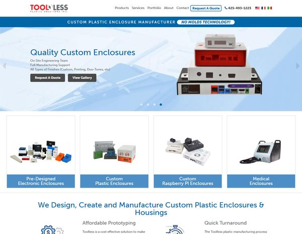 Toolless Plastic Solutions Website Design by Efinitytech Seattle