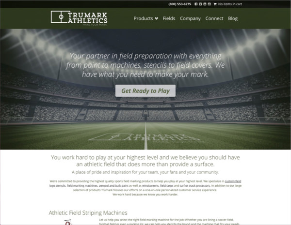 Trumark Athletics Website Design by Efinitytech Seattle