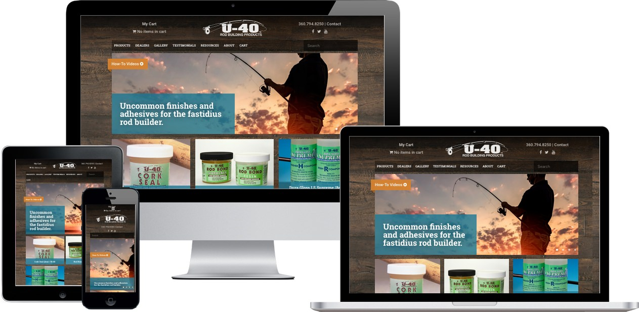 U-40 Rod Building Products Website Design by Efinitytech Seattle
