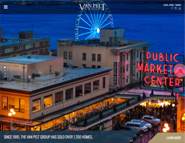Van Pelt Group Website Design by Efinitytech Seattle