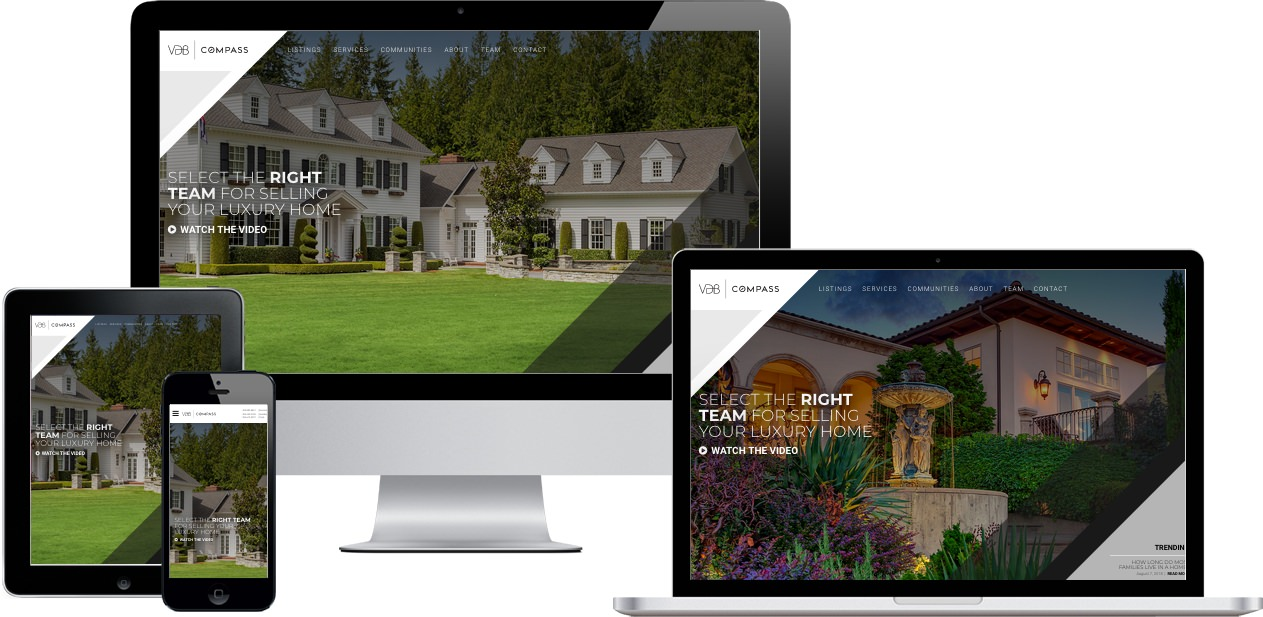 VDB Estates Website Design by Efinitytech Seattle