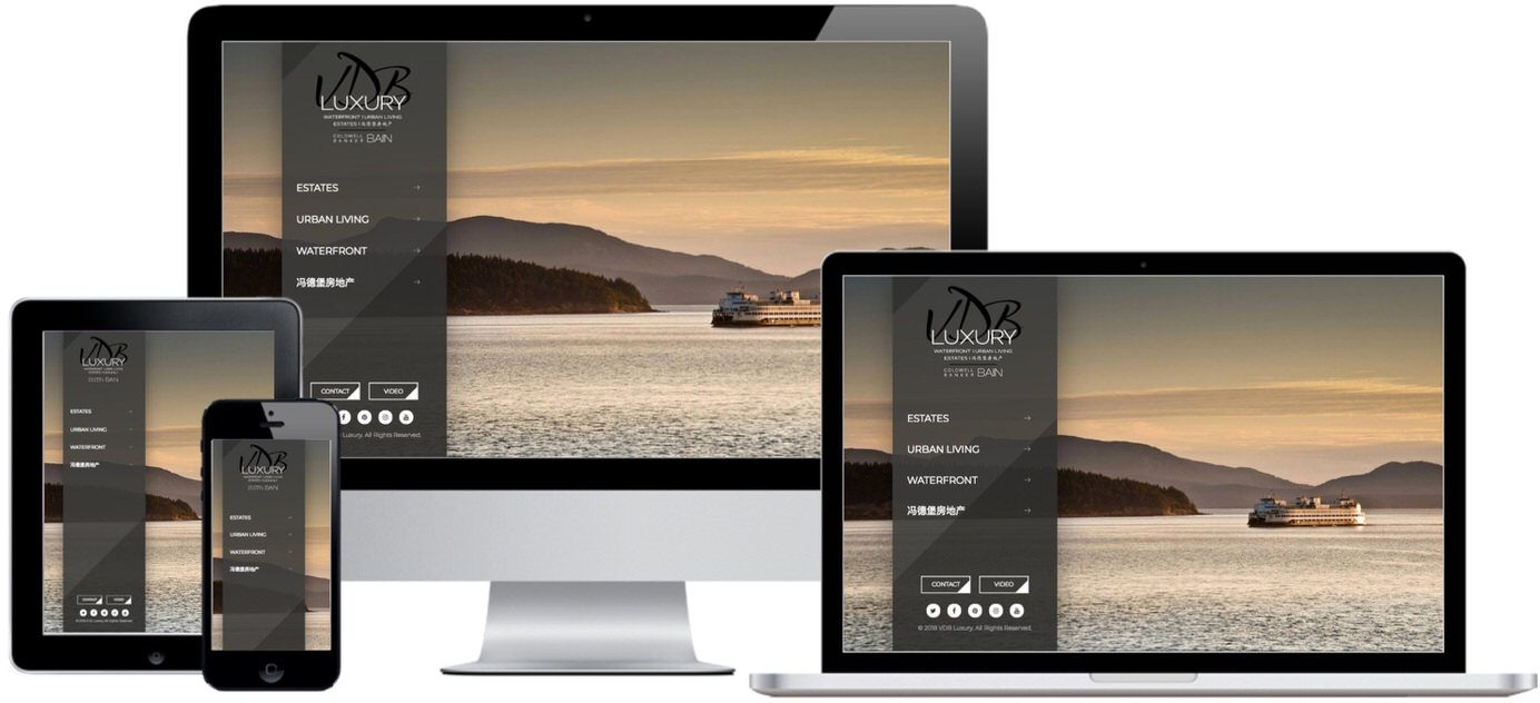 VDB Luxury Website Design by Efinitytech Seattle