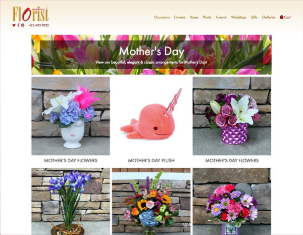 Woodinville Florist Website Design by Efinitytech Seattle