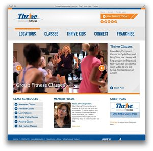 Thrive Community Fitness Website Thumbnail