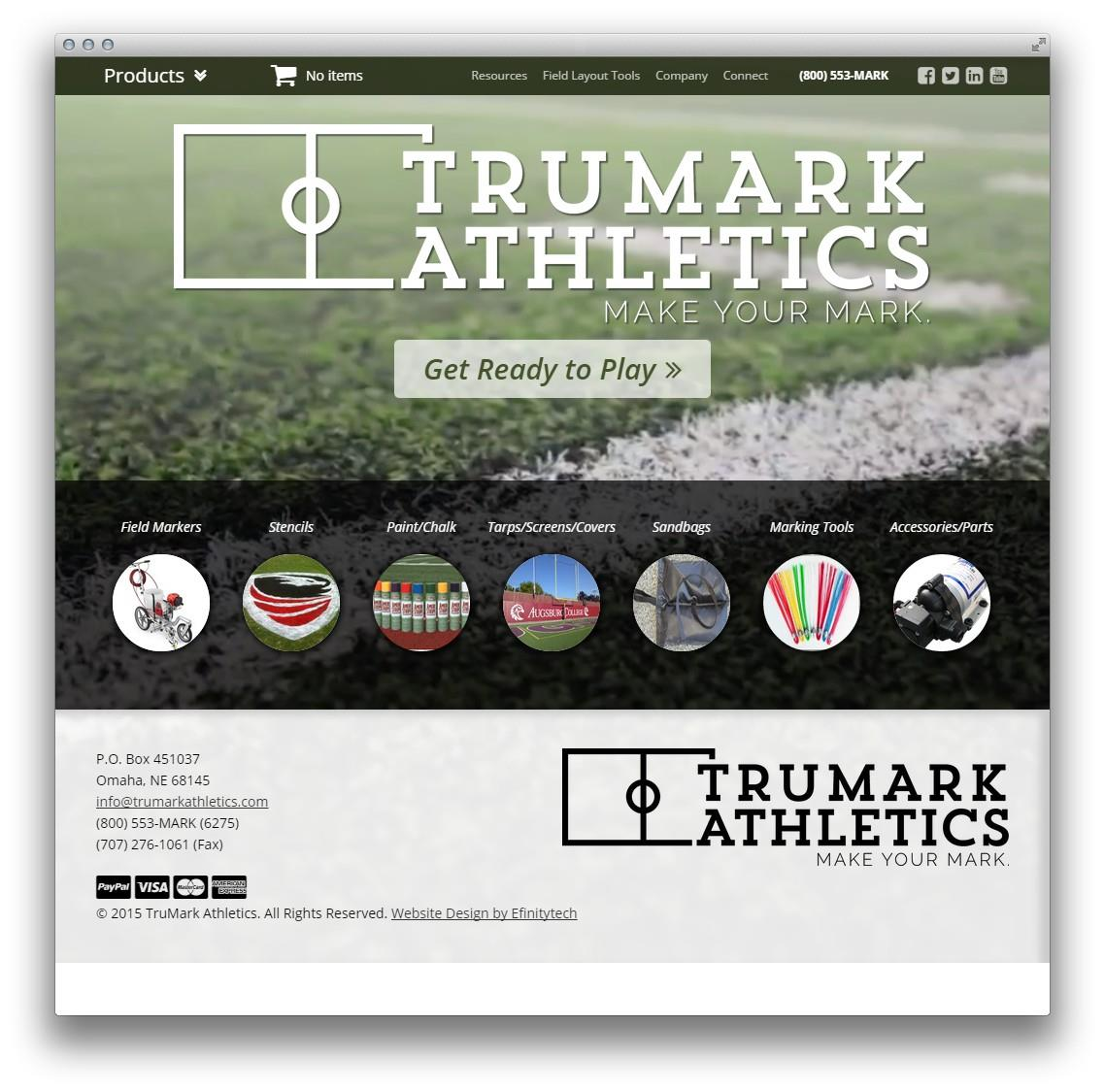 Trumark Athletics Website Design