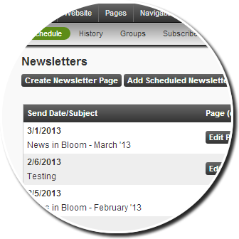Newsletter Schedule